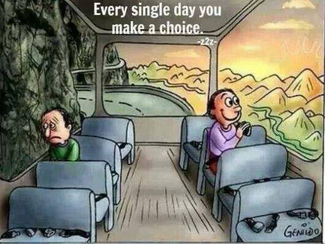 Mỗi ngày, là một sự lựa chọn mới, tốt hay xấu đều do cách bạn nhìn cuộc sống này. Thay vì ủ ê trong mớ suy nghĩ tệ hại, sao không tìm cho mình một vùng đất tươi sáng hơn?