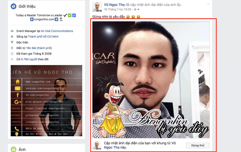 Khung hình trên Facebook