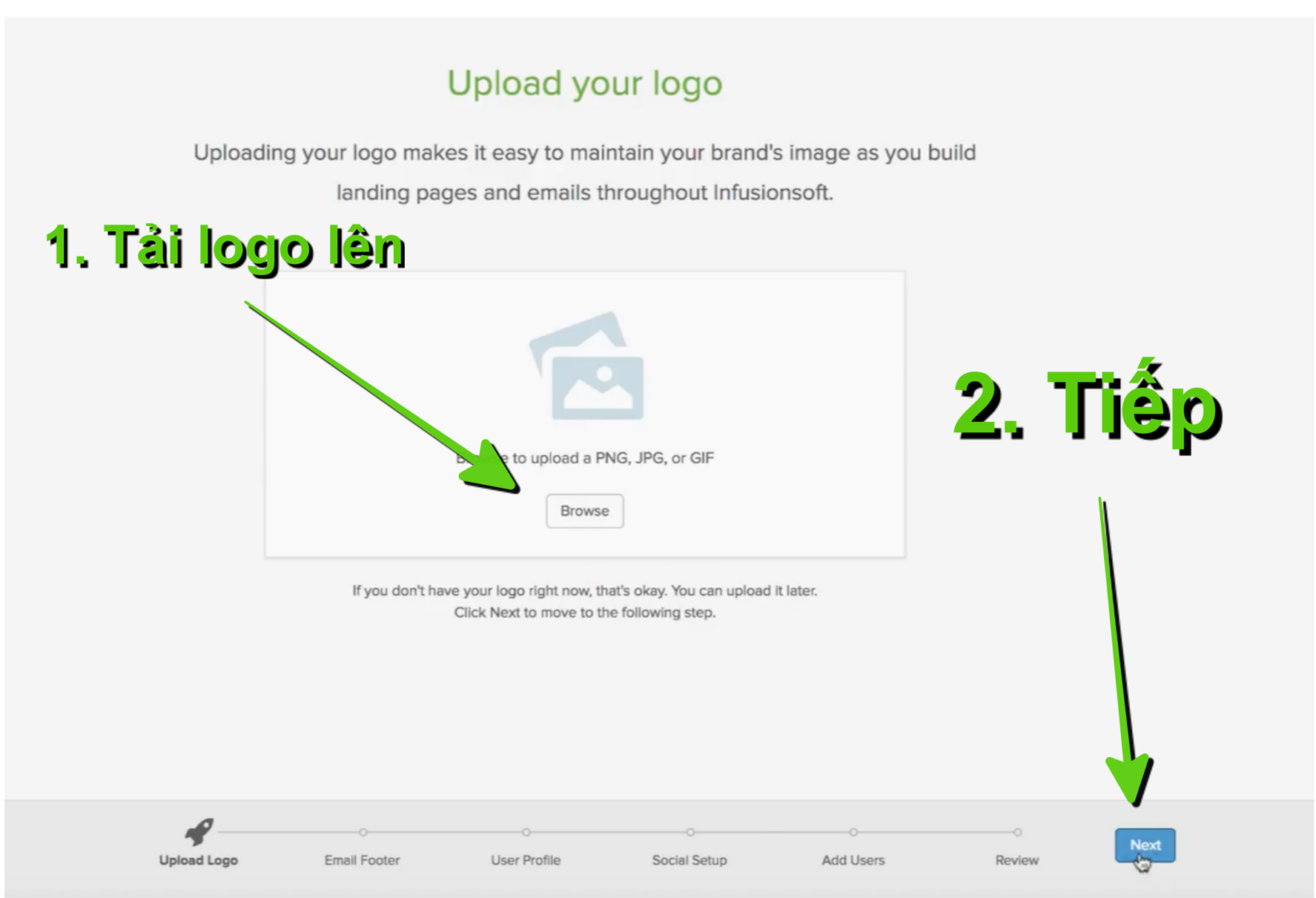 4. Tải Logo công ty lên tài khoản