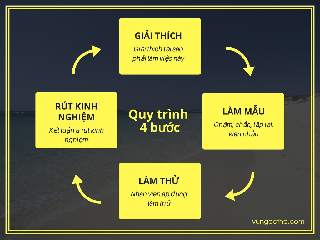 Quy trình đào tạo 4 bước