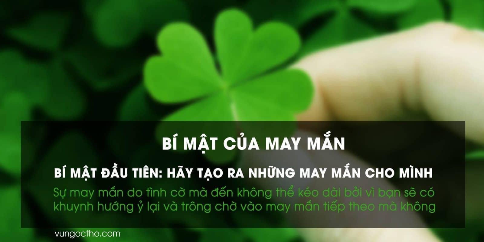 Hãy tạo ra những may mắn cho mình