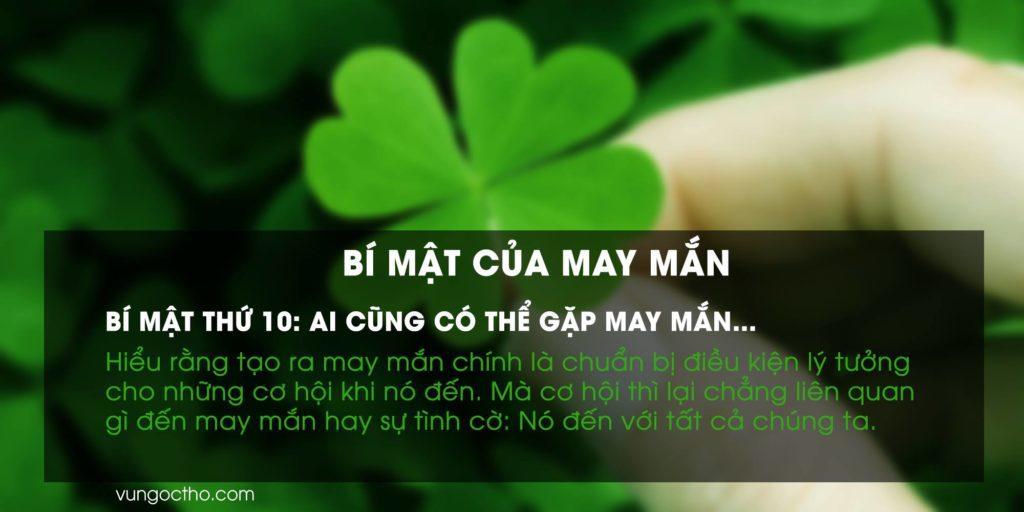 Ai cũng có thể gặp may mắn…